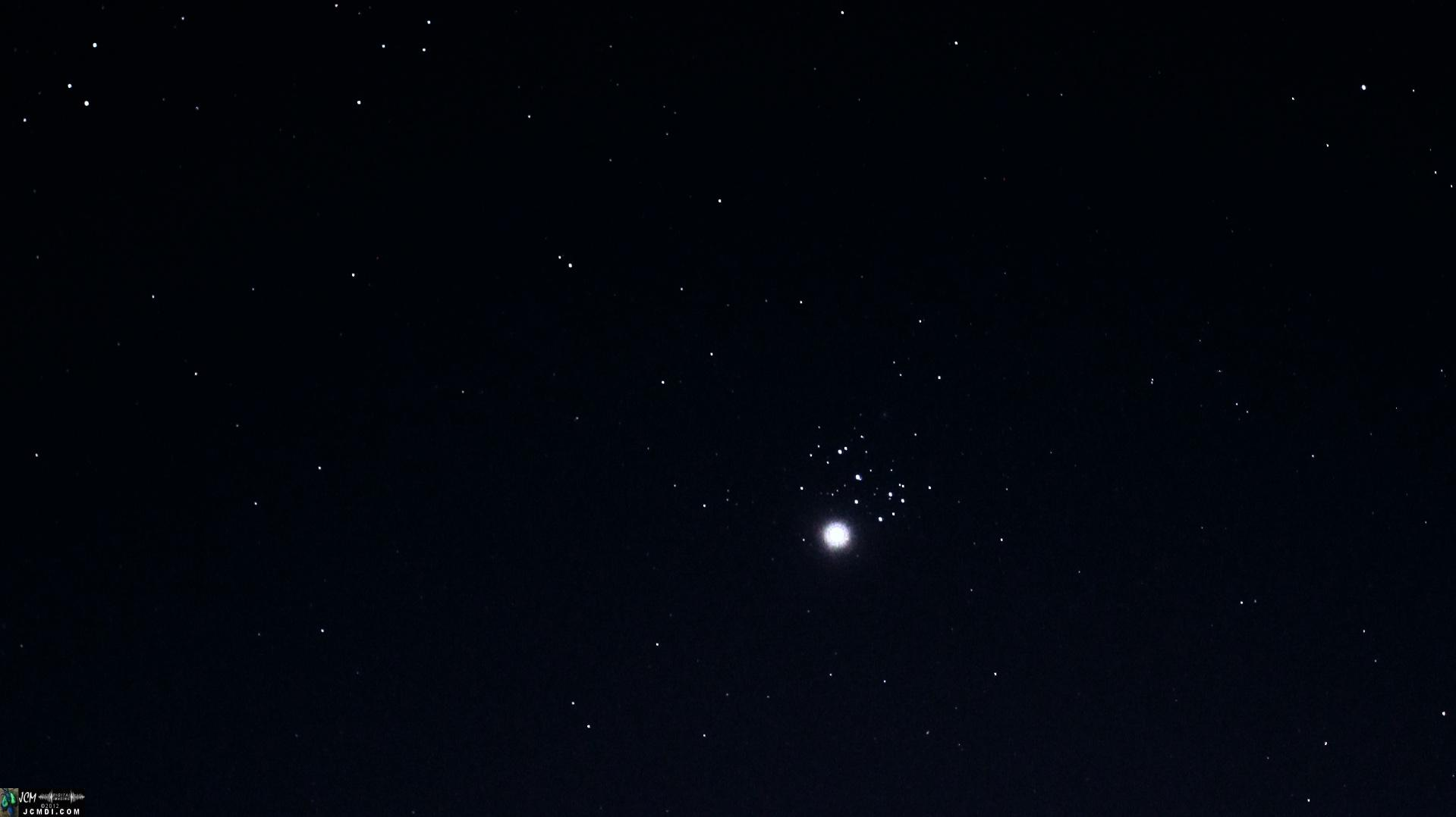 Pleiades Star Cluster and Venus conjuction