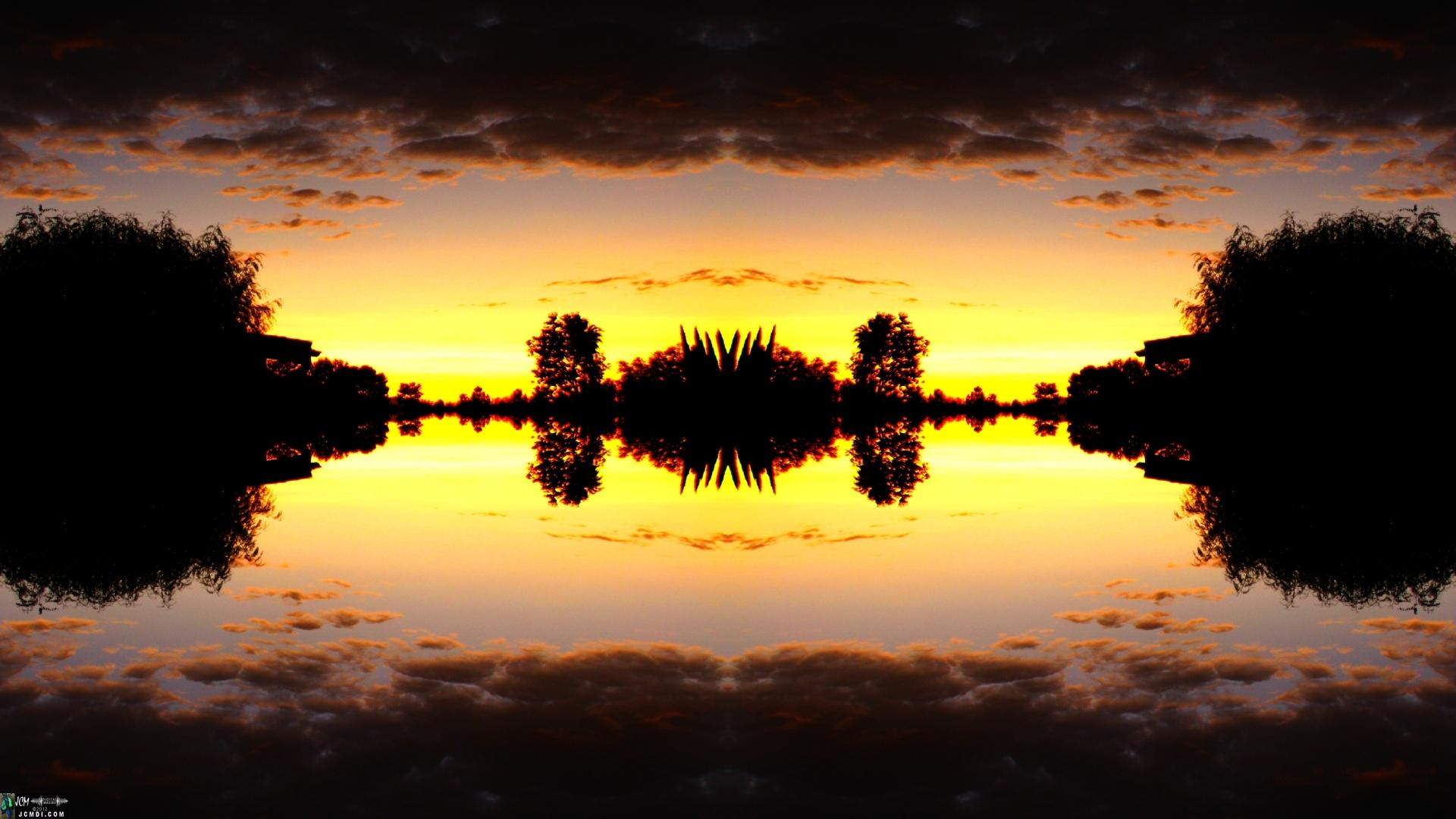 Beautiful kaleidoscopic sunrise still image from video catalog # V03017q